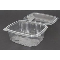 Envases con Tapa Alta Plástico PET Transparentes 2.000 ml (Caja 200 Uds)