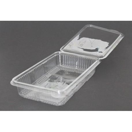 Envases Loncheados con Tapa H40 Plástico PET Transparentes (50 Uds)