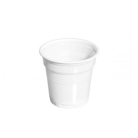 Vasos de Plástico PP Blancos 80 ml (Paquete 100 Uds)