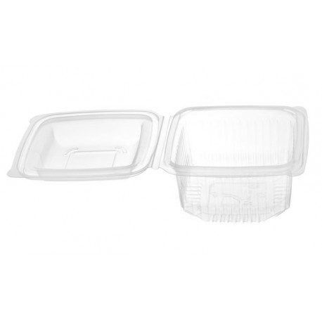 Envases con Tapa Plástico PP Rectangular 250cc (Caja 900 Uds)