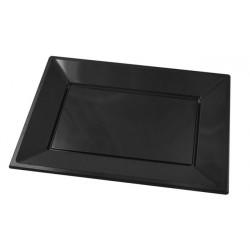 Bandejas de Plástico Negras 33 x 22,5 cm (Caja 125 Uds)