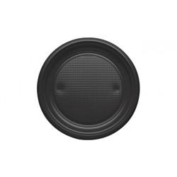 Platos de Plástico Negros 20,5cm (600 Uds)