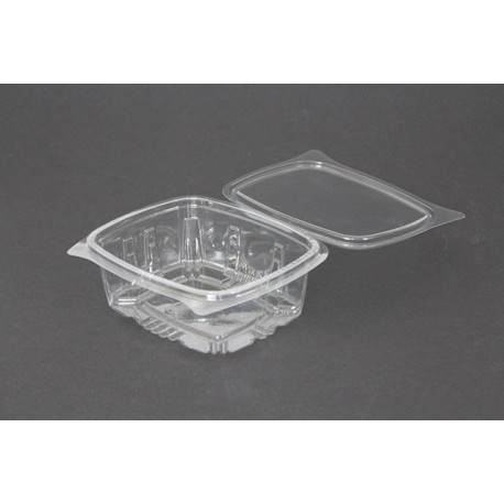 Envases con Tapa Plástico PET Transparentes 500 ml (Caja 600 Uds)
