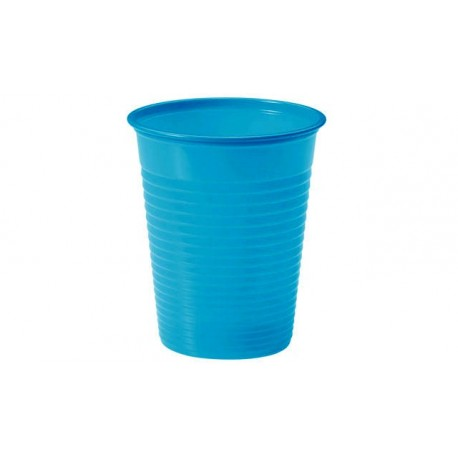 Vasos de Plástico PP Azul Cielo 200ml (24 Uds)