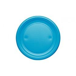 Platos de Plástico Azul Nube 20,5 cm (Paquete 10 Uds)