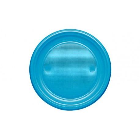 Platos de Plástico Azul Nube 20,5 cm (Caja 600 Uds)