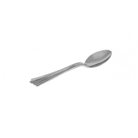 Cucharitas de Plástico Metalizado Lux 14cm (Paquete 25 Uds)