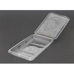 Envases Loncheados con Tapa H27 Plástico PET Transparentes (400 Uds)