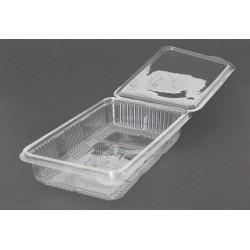 Envases Loncheados con Tapa H40 Plástico PET Transparentes (Caja 400 Uds)