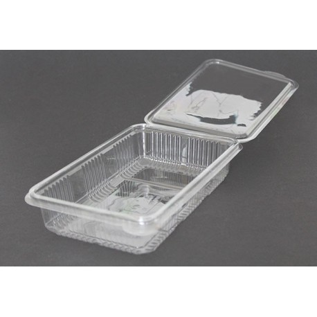 Envases Loncheados con Tapa H40 Plástico PET Transparentes (400 Uds)