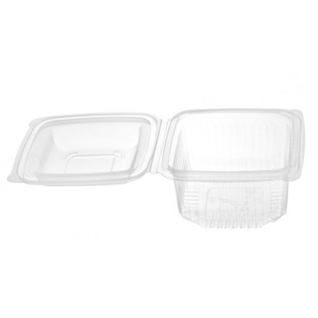 Envases con Tapa Plástico PP Rectangular 1000cc (Caja 400 Uds)