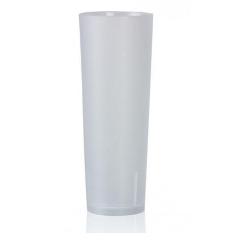 Vasos de Plástico Duro PP Tubo Reutilizables 330ml (10 Uds)