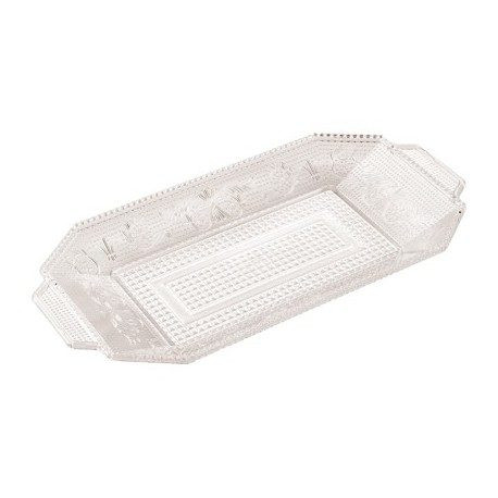 Bandeja de Plástico Reutilizable Transparente 28,5 x 14,5cm (1 Uds)