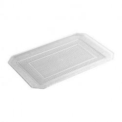 Bandeja de Plástico Reutilizable Transparente 28 x 23cm (1 Uds)