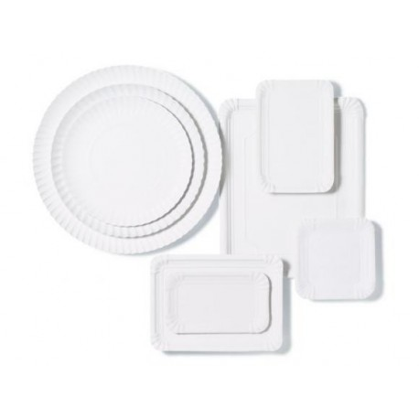 Bandejas de Cartón Blancas Rectangular 18 x 24cm (1.000 Uds)