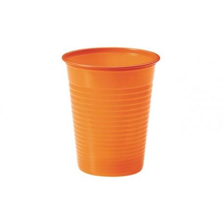 Vasos de Plástico PP Naranjas 200 ml (Paquete 24 Uds)
