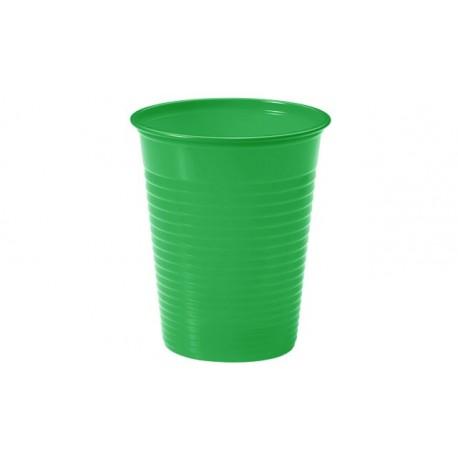Vasos de Plástico PP Verdes 200 ml (Paquete 24 Uds)