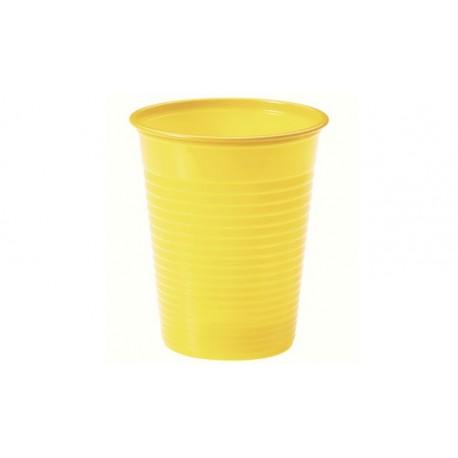 Vasos de Plástico PP Amarillos 200ml (24 Uds)