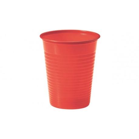 Vasos de Plástico PP Rojos 200 ml (Paquete 24 Uds)