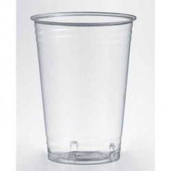 Vasos Biodegradables PLA Transparentes 390ml (1.000 Uds)