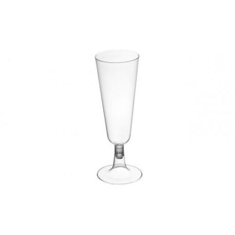 Copas de Cava de Plástico Transparente 150 ml (50 Uds)