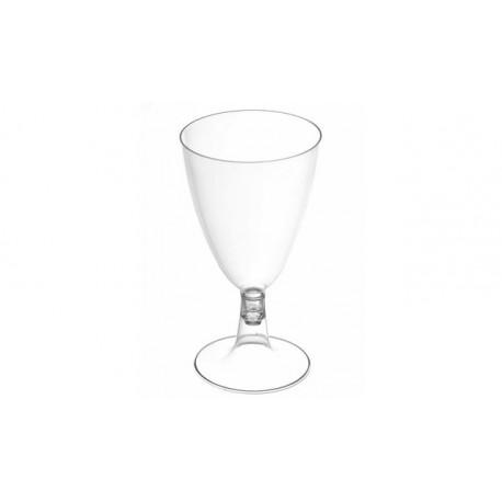 Copas de Plástico Agua / Vino Transparente 170 ml (50 Uds)