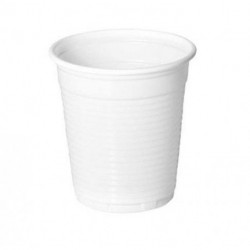 Vasos de Plástico PP Blancos 160ml (100 Uds)